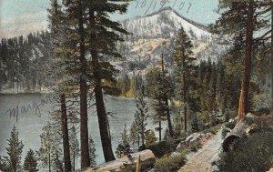 Cascade Lake from the road LAKE TAHOE California 1907 Vintage Postcard