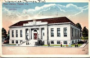 Florida Tampa Free Library 1924