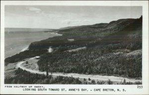 Cape Breton St. Anne's Bay Real Photo Postcard - Nova Scotia