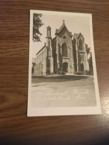 Vintage Postcard Methodist Church , Mineral Point Wisconsin