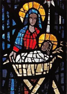 Christi Geburt Glasfenter in der St. Bernadett-Kirche, Grehausen Blaubeuren