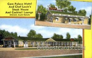 Mitchell, South Dakota USA Corn Palace Motel & Chef Louie's Steak House Road ...