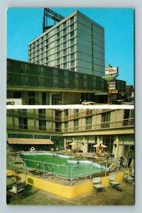 Akron OH- Ohio, Akron Tower Motor Inn, Advertising, Chrome Postcard