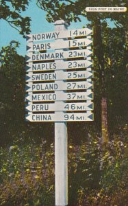 Signpost In Maine