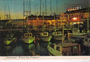 California San Francisco Fisherman's Wharf At Night