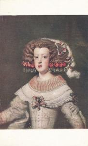 Infant Portrait of Marie Therese by Valasquez Queen of France 1660 to 1683 - DB
