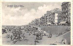 Belgium Wenduyne Plage et Digue Wenduine Strand en Zeedijk 1954