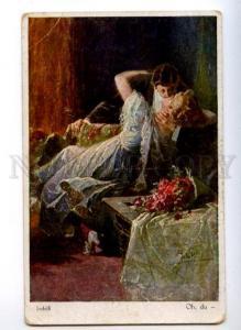 176012 Kiss of Lovers near Fire by JODOLFI Vintage EMM PC