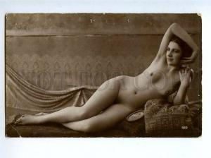 129059 NUDE Woman BELLE Vintage Real PHOTO GA #199 PC