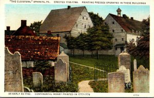 Pennsylvania Ephrata The Cloisters Erected 1735-1746 1945 Curteich