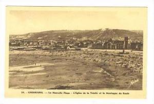 La Nouvelle Plage, L´Eglise de la Trinite et la Montagne du Route, Cherbourg...