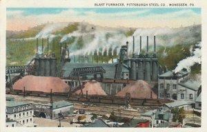 MONESSEN , Pennsylvania , 1918 ; Blast Furnace , Pittsburgh Steel Company