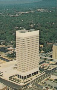 Aerial View, Daniel Building, Classic Cars, GREENVILLE, South Carolina, 40-60's