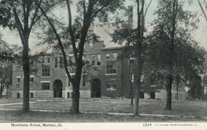 MATTOON , Illinois , PU-1910 ; Hawthorne School