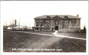 RPPC BOZEMAN, MT Montana  AGRICULTURAL BUILDING  State University 1921 Postcard