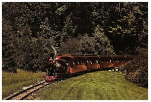 Vintage Zoo Train at Milwaukee County Zoo Postcard in Color MCZ-33