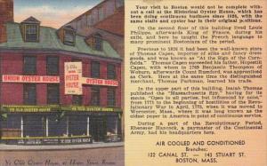 Ye Olde Oyster Honse Hotel 41 Union Street Boston Massachusetts