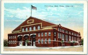 Tulsa, Oklahoma Postcard CONVENTION HALL Building / Street View Kropp 1936