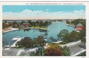 Florida Tarpon Springs The Spring Bayou Curteich