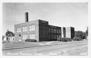 Perry Iowa~Theodore Roosevelt School~Playground~1959 Real Photo Postcard