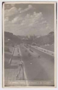 Sao Paulo Brazil 1930s RPPC Real Photo Postcard Brasil Avenida 9 De Julho