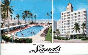Miami Beach Florida Postcard 1975 The Sands Hotel Chrome MP