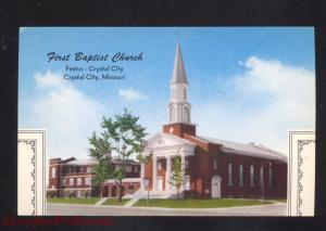 FESTUS CRYSTAL CITY MISSOURI FIRST BAPTIST CHURCH VINTAGE POSTCARD MO.