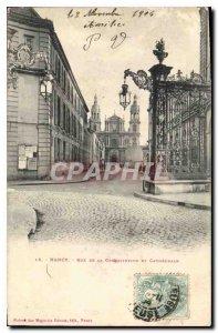 Postcard Old Nancy's Cathedral Street