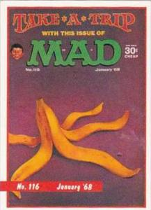 Lime Rock Trade Card Mad Magazine Cover Issue No 116 Jan 1968