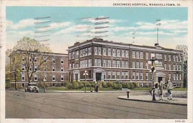 Iowa Marshalltown Deaconess Hospital 1938 Curteich