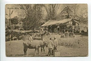 426047 Pakistan India Native Rice Mill Vintage postcard