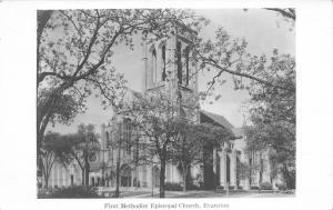 Evanston Illinois~First Methodist Episcopal Church~1930 Real Photo Postcard~RPPC
