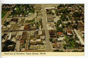 Tarpon Springs FL Aerial View Postcard