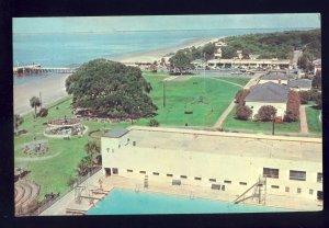 St Simons Island, Georgia/GA Postcard, Casino Swimming Pool, Shopping Area