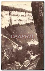 Old Postcard Jura Tourist Rocks Baume Des Grottes and Cascade Ranges