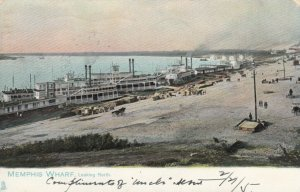 MEMPHIS , Tennessee, 1905 ; Wharf Looking north ; TUCK 2008