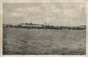 PC CPA MOZAMBIQUE, BEIRA FROM THE PORT, Vintage Postcard (b26750)