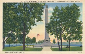 Perry Monument Battle of Lake Erie - Crystal Point Erie PA Pennsylvania - Linen