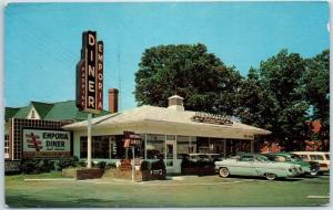 1950s Virginia Postcard THE NEW EMPORIA DINER Restaurant Route 301 Roadside