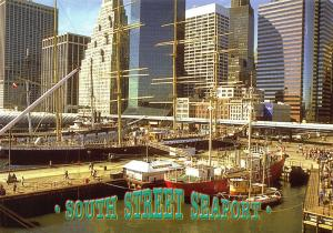 New York City USA Postcard, South Street Seaport, United States Z25