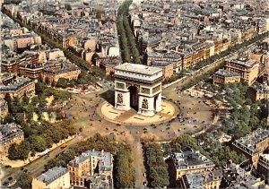 La Place de l'arc de triomphe de l'Etoile Paris France 1966
