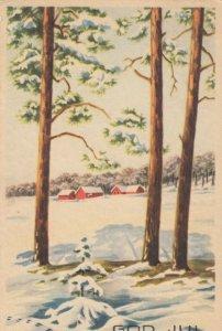 CHRISTMAS, 1900-10s; God Jul, Winter Scene