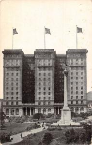 USA Atwater, California building flags 1910