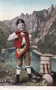 Switzerland Apeenzeller Tracht Young Boy In Traditional Costume 1910