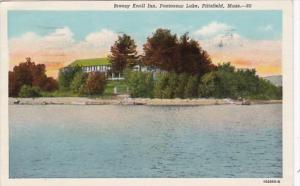 Massachusetts Pittsfield Breezy Knoll Inn Pontoosuc Island 1943 Curteich