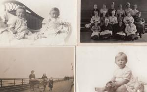 Cheeky Baby Lamb Stuffed Toy Group Of Cooks 4x Old RPC Postcard s