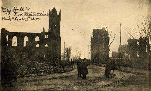 MA - Chelsea, April 12, 1908 Fire Ruins. City Hall, First Baptist Church