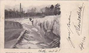 New Jersey Paterson Passaic Falls In Winter