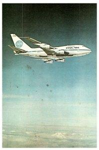 Pan Am Avión Vuelo Tarjeta Postal 1980 Enviada De India A Hong Kong