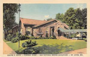 Funeral Home Post Card Calvin F. Feutz Funeral Home St. Louis, Missouri, USA ...
